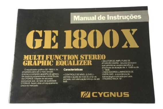 Raro Manual Cygnus Ge 1800 X - Formato Digital!!