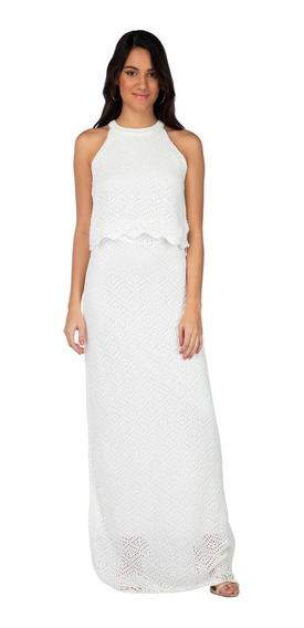 Vestido Longo Enfim Off White 63991