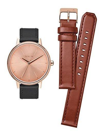 Conjunto De Reloj De Cuero Nixon Kensington