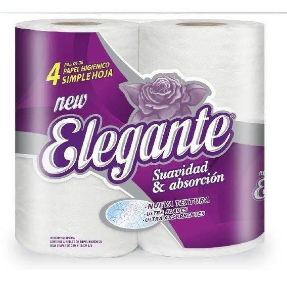 Papel Higienico Blanco Calidad Elegante 48 Rollos X 30 Mts
