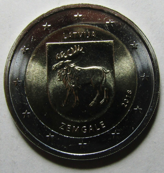 Letonia Moneda Bimetalica 2 Euros 2018 Unc Semigallia