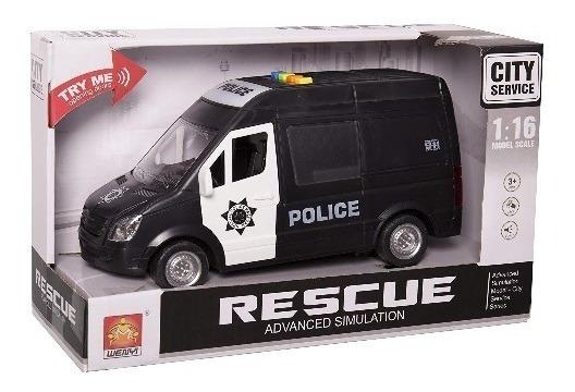 Ck Furgon De Policia / Ambulancia Con Luz Y Sonido 21 Cm