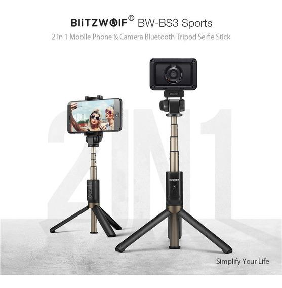 Bastão Selfie Bluetooth Blitzwolf Para Smartphone E Cameras