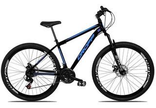 Bicicleta Aro 29 Dropp Aço 21v Suspensão Freio Disc Pto/azul