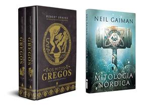 Livros Mitos Gregos & Mitologia Nórdica Lendas Frete Grátis