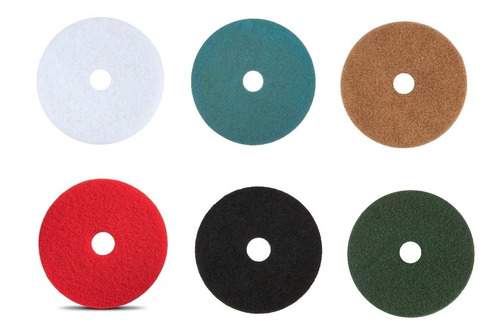 Discos Pad Fibra Pulidora Colores Surtidos 20 Pulgadas 5 Pz
