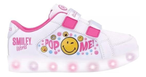 Zapatillas Smile Blancas Footy Con Luz Led Usb Fty Calzados