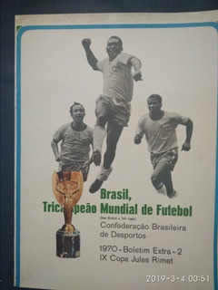 Álbum Revista Brasil Tri - Cbd / Coca Cola 1970 C/ Poster
