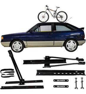 Kit Suporte Transbike Rack Teto P Carro Vw Gol Gti Quadrado