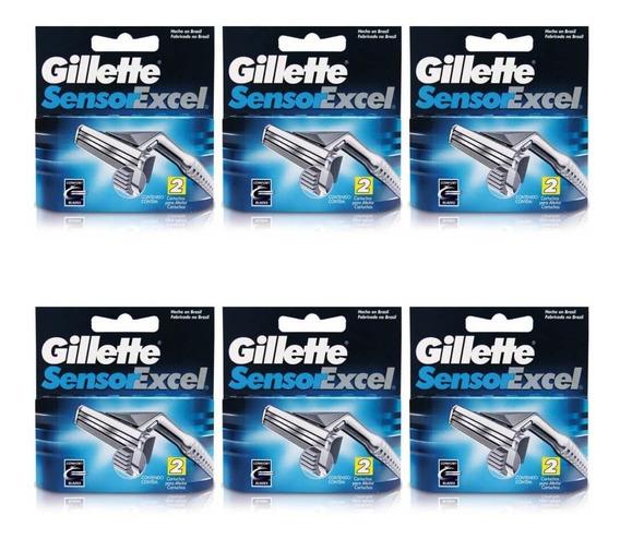 Gillette Sensor Excel Carga C/2 (kit C/06)