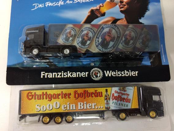 2 Caminhões Truck Bier Scania Novos Importados Escala Ho