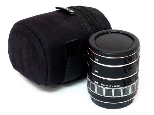 Imagem 1 de 7 de Tubos Extensão Kenko Dg Para Canon Ef 12mm, 24mm, 36mm