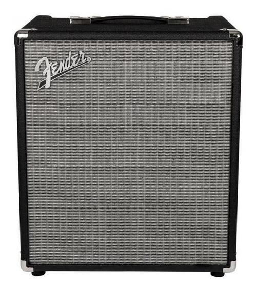 Amplificador Fender Rumble 100 100W transistor preto e prata 110V
