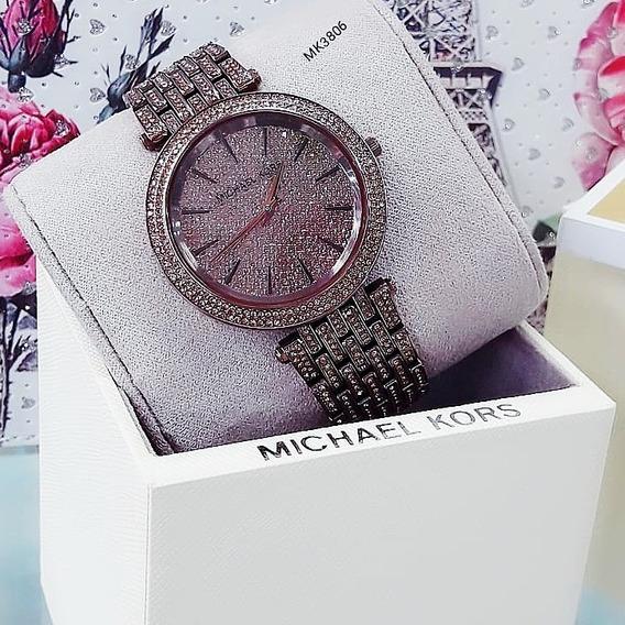 Relógio Michael Kors Mk3206 Prata Cravejado Feminino - Darci