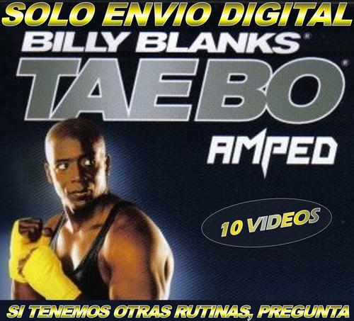 Tae Bo Amped 10 Videos Zumba Fitness Rutina Adelgaza En Casa
