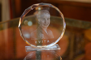 Disco Decorativo De Cristal Con Imagen De Evita Eva Perón
