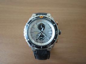 Relógio Nautica Masculino Couro Marrom - Wr 100m (original)