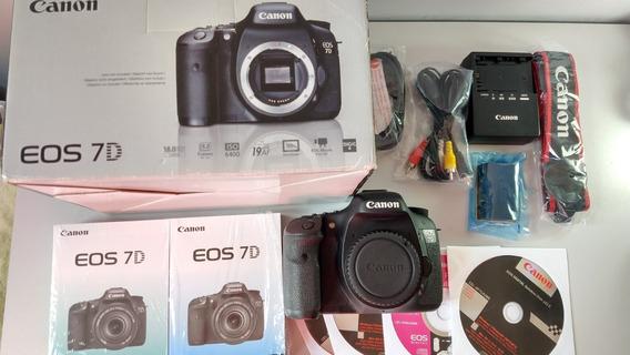 ## Camera Canon 7d Corpo Eos Perfeit 27.950clic Garanti Loj
