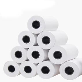 Bobina Branca Impressora Térmica 57x30mm Pacote 24 Unidades
