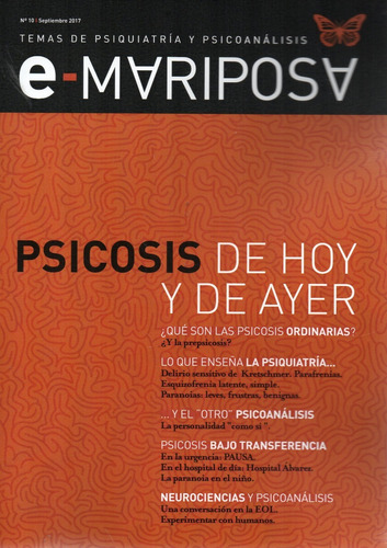 Imagen 1 de 1 de Efecto Mariposa 10 Psicosis (gr)