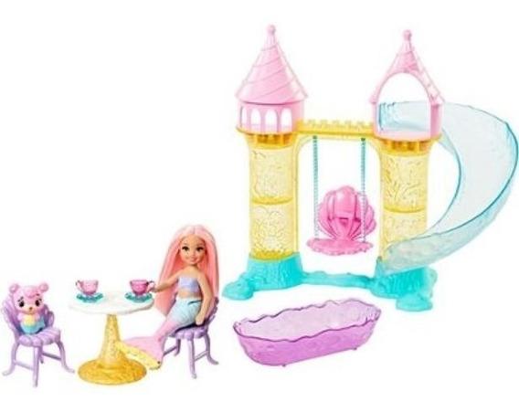 Barbie Chelsea Mermaid Playset Conjunto De Castelo