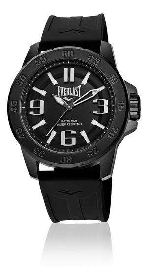 Relógio Masculino Everlast Esporte E696 47mm Silicone Preto