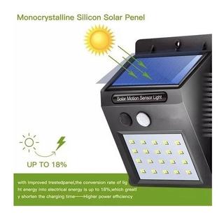 Farol Exterior Solar Led Sensor De Movimiento Plafon Luz