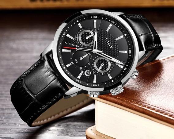 Relógio Lige 9866 (novo E Original) Kit Completo Com Estojo