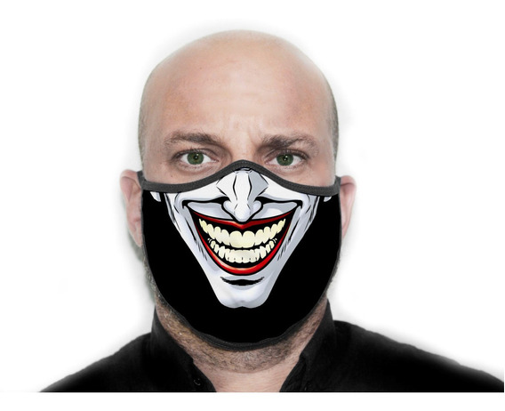 Máscara Proteção Personalizada Coringa Joker - Ref ( 09 )