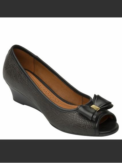 Zapatilla Flexi #3 Texturizada Con Moño 5cm Para Dama