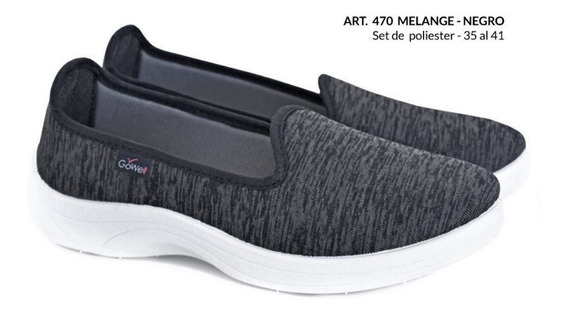 Zapato Mocasin Tipo Neoprene Confort Gowell