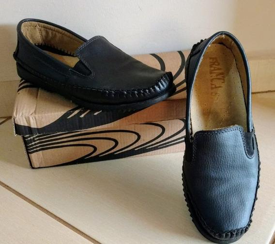 Sapato Mocassim Preto 38 Semi-novo