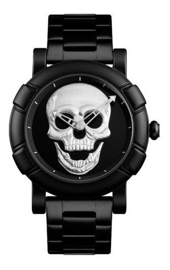 Reloj Skmei 9178 Hombre Calavera Skull Craneo Con Estuche