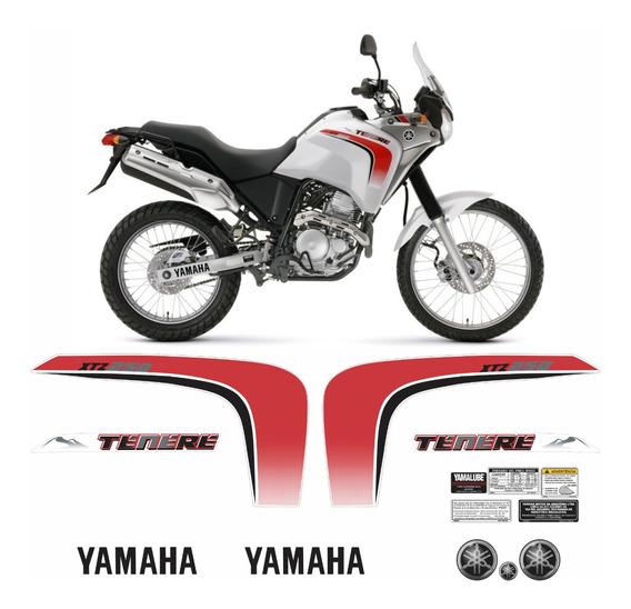 Kit Completo De Adesivo Tenere 250 2011 Branca Tnr001 Fgc