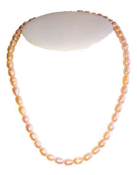 Collar, Aretes De Perla Cultivada Natural Rosa Natural A012
