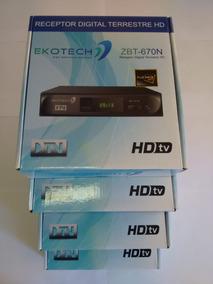 Kit 4 Unidades Conversor Tv Digital Ekotech Zbt 650n