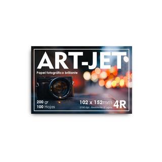 Papel Fotográfico 10x15 Glossy Brillante Art-jet® 500h 200gr