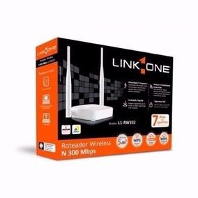 Roteador Wireless 2 Antenas 5 Dbi - Link-one 300mbps - Novo
