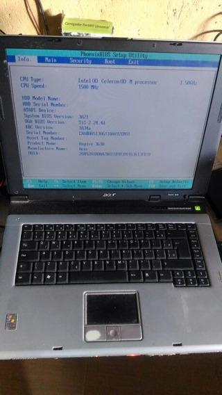 Notebook Acer 3630, Sem Hd Sem Carregador