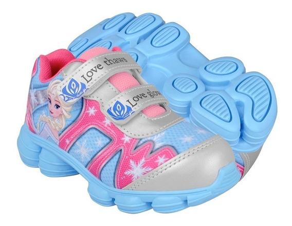 Zapatos Atleticos Y Urb Frozen Fzb-4512 16-21 Textil Azul