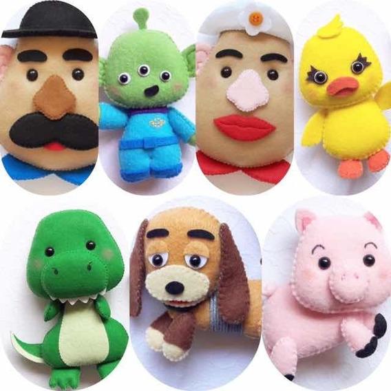 Boneco Feltro Toy Story - Kit Com 7 Unidades