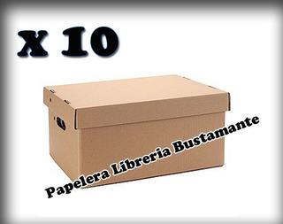 Caja Archivo Americana Carton Corrugado 41x32x25 X 10 Unidad