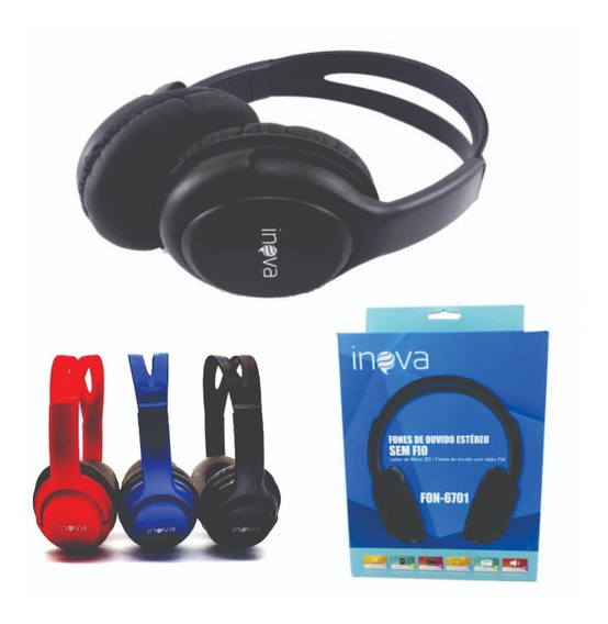 Fone De Ouvido Headphone Bluetooth Stereo Usb Radio Fm Ba