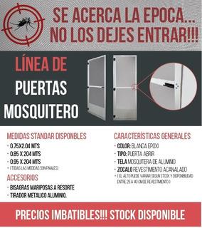 Puerta Mosquitero De Aluminio Blanco