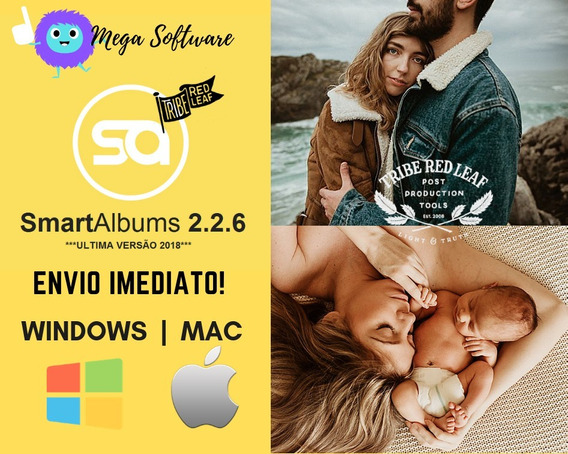 Smart Albums Windows | Mac + Bonus Preset Tribe Red Leaf+