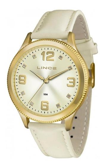 Relógio Lince Feminino Em Couro Clássico Lrc4396l Oferta
