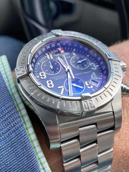 Relógio Breitling Avenger Seawolf Todo Em Aço Caixa 45mm