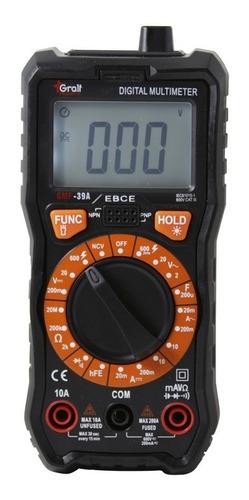 Multimetro Digital Compacto Tester Gmf-39a Gralf True Rms