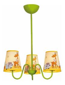 Lustre Pendente Luminária Infantil Unissex Zoo Kids