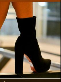 Zapatos Elastizado Alto Cuadrado Neoprene